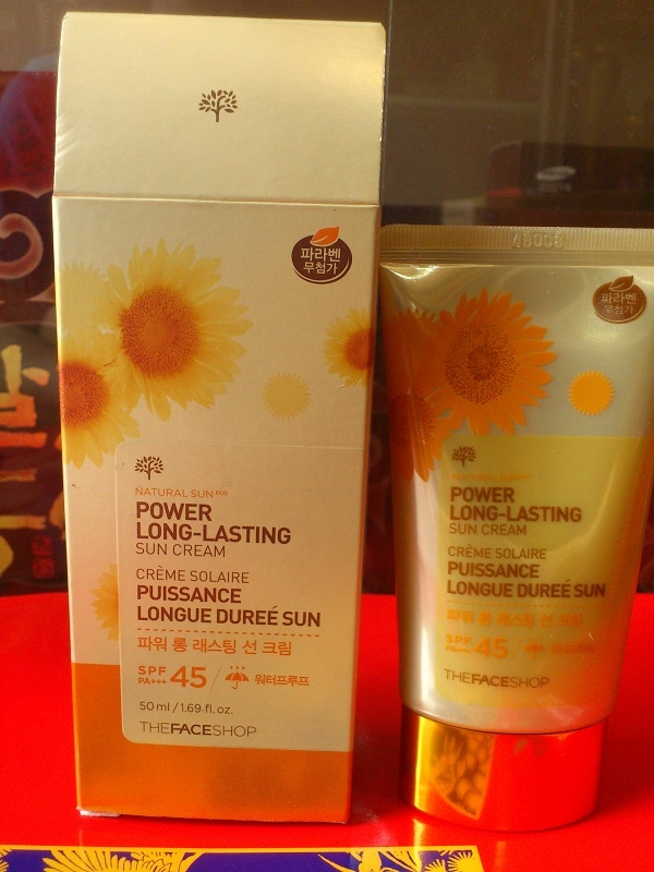 Kem chống nắng the face shop SPF45 PA+++ - Natural sun eco power long-lasting sun