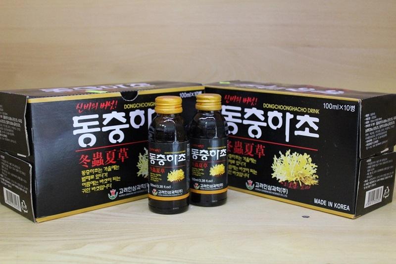 Nước đông trùng chai 100ml_Dongchoonghacho drink