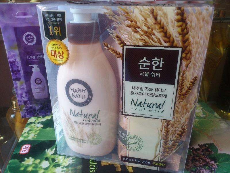 Sữa tắm Happy Bath Natural Real Mild Body Wash_Lúa Mạch