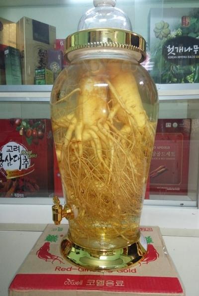 Bình rượu nhân sâm tươi Hàn Quốc 12 lit