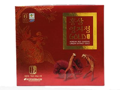Cao hồng sâm linh chi Pocheon 480g (240g x 2 lọ) - Korean Red Ginseng Lingzhi Extract Gold