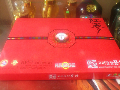 Hồng sâm củ tẩm mật ong Dongjin Pharmacy 10 củ