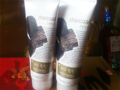 Sữa rửa mặt than thefaceshop - Phyto Powder in Cleansing Foam Charcoal