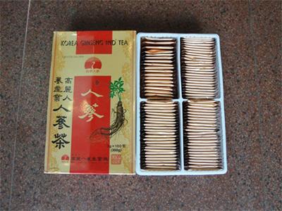 Trà hồng sâm con cò hộp 50 gói