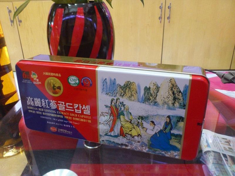 TPCN: Viên hồng sâm-nhung hươu-linh chi KGS_Korean red ginseng extract gold capsule Can